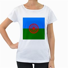Gypsy Flag Women s Loose Fit T Shirt (white)