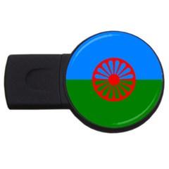 Gypsy Flag Usb Flash Drive Round (4 Gb)