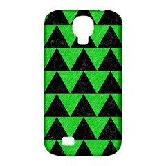 Triangle2 Black Marble & Green Colored Pencil Samsung Galaxy S4 Classic Hardshell Case (pc+silicone)