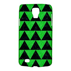 Triangle2 Black Marble & Green Colored Pencil Galaxy S4 Active