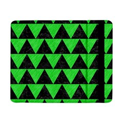 Triangle2 Black Marble & Green Colored Pencil Samsung Galaxy Tab Pro 8 4  Flip Case