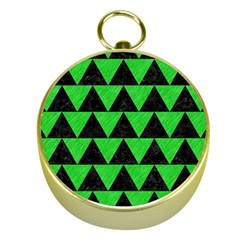 Triangle2 Black Marble & Green Colored Pencil Gold Compasses