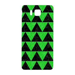 Triangle2 Black Marble & Green Colored Pencil Samsung Galaxy Alpha Hardshell Back Case
