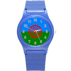 Gypsy Flag Round Plastic Sport Watch (s)