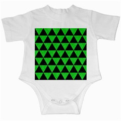 Triangle3 Black Marble & Green Colored Pencil Infant Creepers