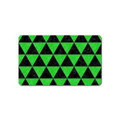 Triangle3 Black Marble & Green Colored Pencil Magnet (name Card)
