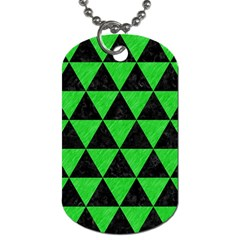 Triangle3 Black Marble & Green Colored Pencil Dog Tag (two Sides)
