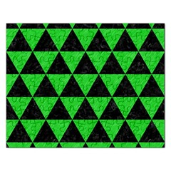 Triangle3 Black Marble & Green Colored Pencil Rectangular Jigsaw Puzzl