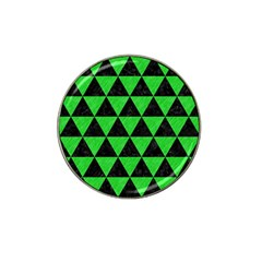 Triangle3 Black Marble & Green Colored Pencil Hat Clip Ball Marker (4 Pack)