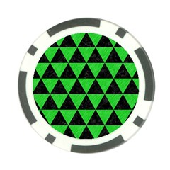 Triangle3 Black Marble & Green Colored Pencil Poker Chip Card Guard