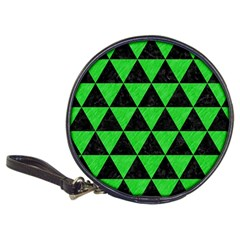 Triangle3 Black Marble & Green Colored Pencil Classic 20 Cd Wallets