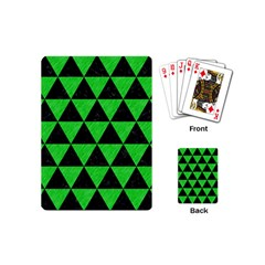 Triangle3 Black Marble & Green Colored Pencil Playing Cards (mini)