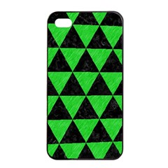Triangle3 Black Marble & Green Colored Pencil Apple Iphone 4/4s Seamless Case (black)