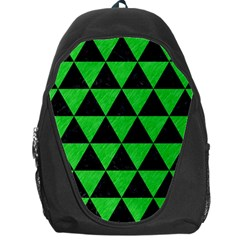 Triangle3 Black Marble & Green Colored Pencil Backpack Bag