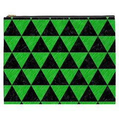 Triangle3 Black Marble & Green Colored Pencil Cosmetic Bag (xxxl)