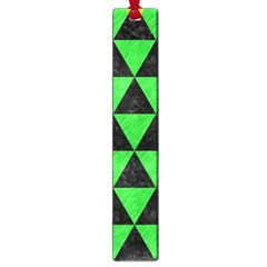 Triangle3 Black Marble & Green Colored Pencil Large Book Marks