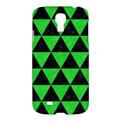Triangle3 Black Marble & Green Colored Pencil Samsung Galaxy S4 I9500/i9505 Hardshell Case