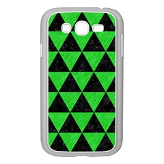 Triangle3 Black Marble & Green Colored Pencil Samsung Galaxy Grand Duos I9082 Case (white)