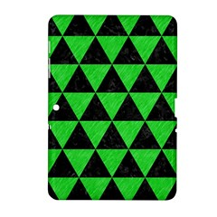 Triangle3 Black Marble & Green Colored Pencil Samsung Galaxy Tab 2 (10 1 ) P5100 Hardshell Case