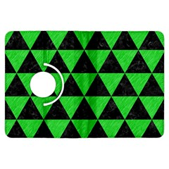 Triangle3 Black Marble & Green Colored Pencil Kindle Fire Hdx Flip 360 Case