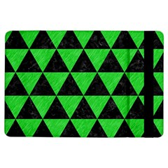 Triangle3 Black Marble & Green Colored Pencil Ipad Air Flip