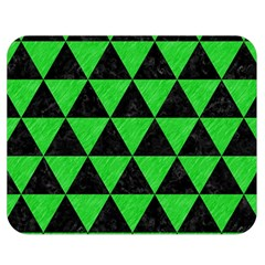 Triangle3 Black Marble & Green Colored Pencil Double Sided Flano Blanket (medium)