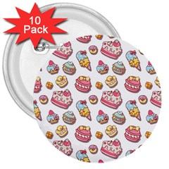 Sweet Pattern 3  Buttons (10 Pack)