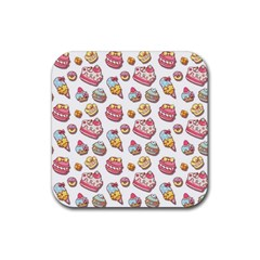 Sweet Pattern Rubber Coaster (square)