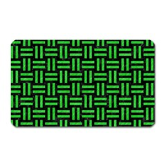 Woven1 Black Marble & Green Colored Pencil Magnet (rectangular)