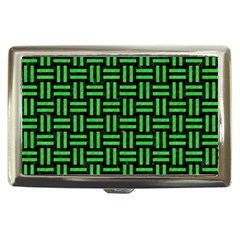 Woven1 Black Marble & Green Colored Pencil Cigarette Money Cases