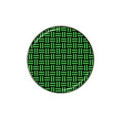Woven1 Black Marble & Green Colored Pencil Hat Clip Ball Marker