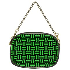 Woven1 Black Marble & Green Colored Pencil Chain Purses (one Side)
