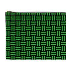 Woven1 Black Marble & Green Colored Pencil Cosmetic Bag (xl)