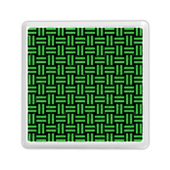 Woven1 Black Marble & Green Colored Pencil Memory Card Reader (square)