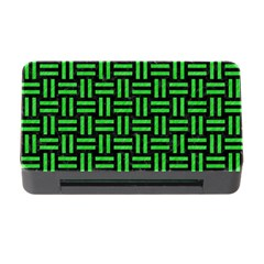 Woven1 Black Marble & Green Colored Pencil Memory Card Reader With Cf