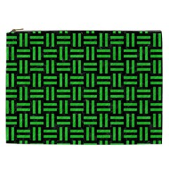Woven1 Black Marble & Green Colored Pencil Cosmetic Bag (xxl)