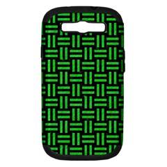 Woven1 Black Marble & Green Colored Pencil Samsung Galaxy S Iii Hardshell Case (pc+silicone)
