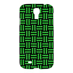 Woven1 Black Marble & Green Colored Pencil Samsung Galaxy S4 I9500/i9505 Hardshell Case