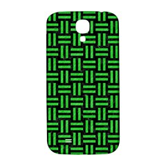 Woven1 Black Marble & Green Colored Pencil Samsung Galaxy S4 I9500/i9505  Hardshell Back Case