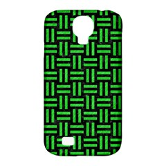 Woven1 Black Marble & Green Colored Pencil Samsung Galaxy S4 Classic Hardshell Case (pc+silicone)