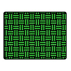 Woven1 Black Marble & Green Colored Pencil Double Sided Fleece Blanket (small)
