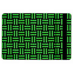 Woven1 Black Marble & Green Colored Pencil Ipad Air 2 Flip