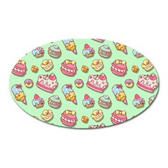 Sweet Pattern Oval Magnet