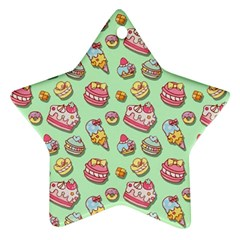 Sweet Pattern Star Ornament (two Sides)