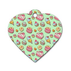 Sweet Pattern Dog Tag Heart (two Sides)