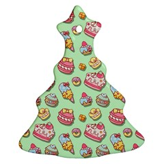 Sweet Pattern Christmas Tree Ornament (two Sides)