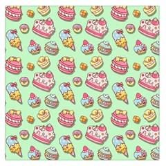Sweet Pattern Large Satin Scarf (square)