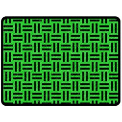 Woven1 Black Marble & Green Colored Pencil (r) Fleece Blanket (large)