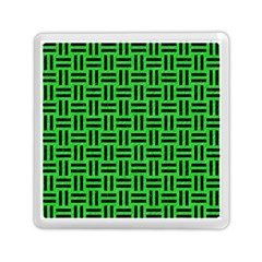 Woven1 Black Marble & Green Colored Pencil (r) Memory Card Reader (square)