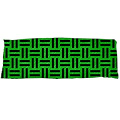 Woven1 Black Marble & Green Colored Pencil (r) Body Pillow Case Dakimakura (two Sides)
